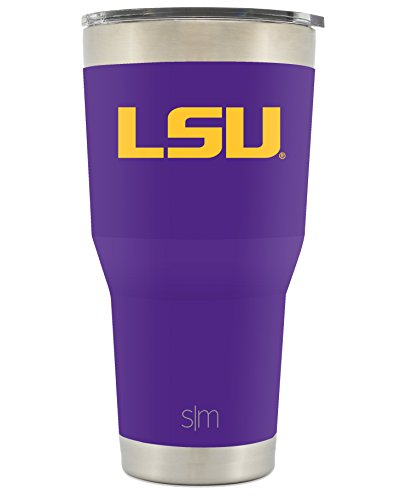 Simple Modern LSU 30oz Cruiser Tumbler - Vacuum Insulated Stainless Steel Travel Mug - Louisiana State University Tigers Tailgating Hydro Cup College (Lsu Metal)