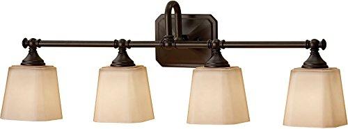 (Murray Feiss Strip VS19704-ORB Concord Four Light Bath Vanity, Oil Rubbed Bronze, 4,)