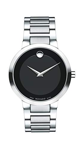 - Movado Men's Modern Classic Stainless Steel Watch with Museum Dial, Black/Silver/Grey (Model 607119)