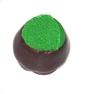 (Wockenfuss Candies Pistachio Marzipan, Dark Chocolate - 1lb)