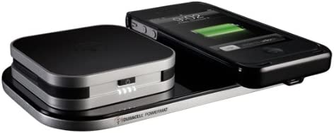 Duracell PowerMat Wireless Charger with Duracell Portable Battery White