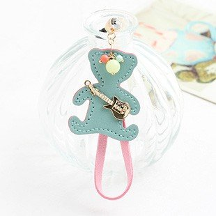 CJB Dust Plug / Earphone Jack Accessory Bear Guitar for iPhone 4 4s S4 5 All Device with 3.5mm Jack (US Seller)