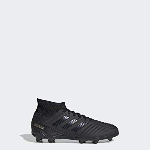 adidas Unisex Predator 19.3 Firm Ground Soccer Shoe, Black/Gold Metallic, 13K M US Little Kid