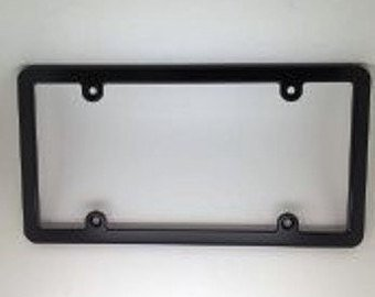 SLIMLINE BILLET ALUMINUM LICENSE PLATE FRAME-BLACK ()