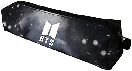 GOTH Perhk Kpop BTS - Estuche de lona para lápices, neceser de maquillaje o cosméticos, bolsa pequeña con cremallera 19 x 6 cm-1: Amazon.es: Hogar