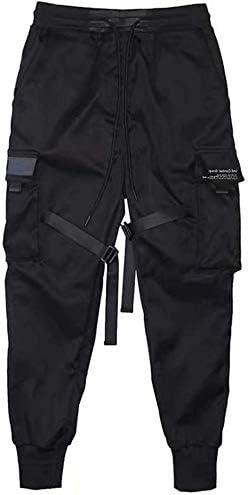 Hombre Pantalones Militares Lazos Harén Pantalón de Chándal ...