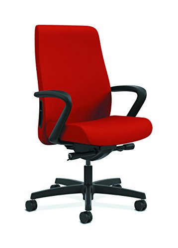 HON Endorse Mid-Back Task Chair- Upholstered Computer Chair for Office Desk, Tomato (HLWU)