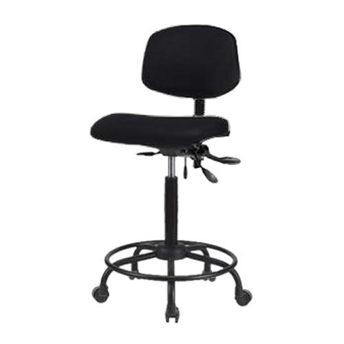 Thomas ECOM VMBCH-RG-T0-A1-NF-RG-c8569 Burgundy Vinyl Medium Bench Height Chair with Black Nylon Base and Without Tilt//Foot Ring Adjustable Arm Glides