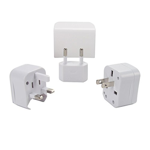 Konty Travel Worldwide Plug Adapter,All in One Universal AC Wall Outlet Plugs,Power Converters for US/EU/UK/AUS(Arbitrary Combination)