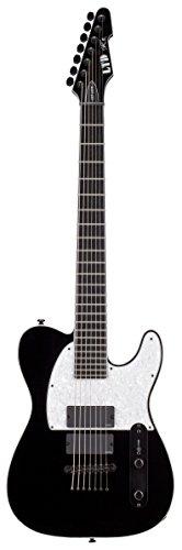 ESP LTD SCT-607B Signature Series Stephen Carpenter Electric Guitar, Black
