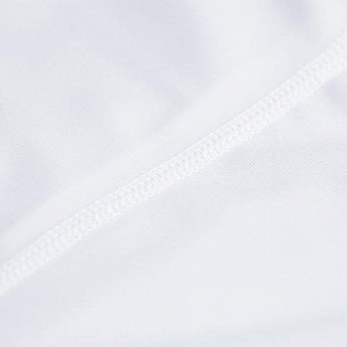 Ciclismo 1 Sport Antiscivolo nbsp;coppia Gambali Elastico Bianco Per Tofern PY0qwdq