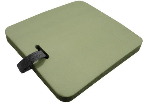 (Moss Green Thick Seat Cushion with Holding Handle and Velcro Strap by Guidesman)