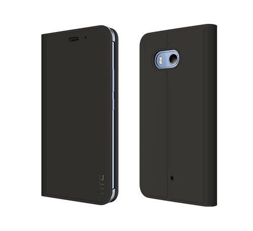 Htc Flip Phone (Original HTC U11 Synthetic Flip Case, Dark Grey - HC C1322)