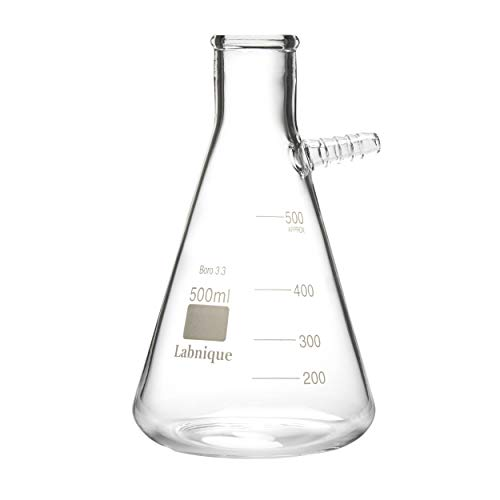 Glass Filtering Flask with Upper Tubulation, 500ml (Pack of 4) ()