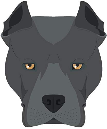 (Cute Sweet Adorable Puppy Dog Head Breed Cartoon Vinyl Sticker, American Staffordshire Terrier)