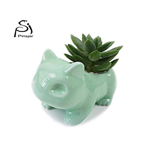 Ceramic Plant Pot Flower Planters Containers Creative Bulbasaur Flowerpot Anime Japanese Cartoon Game Indoor Home Table…