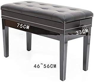 ピアノスツール 古筝エレクトリックピアノ二胡2人を持ち上げてソリッドウッドピアノスツール肥厚して保存機能 メンテナンスが簡単で実用的 (色 : Coffee, Size : 75x33x56cm)
