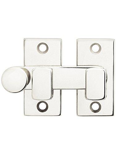 Plain Shutter Bar - Reversible for Right Hand and Left Hand in Polished Nickel - Shutter Bar