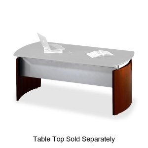 Tiffany Industries NDBMAH Napoli Series Desk with Curved End Panels, Base Component, Mahogany