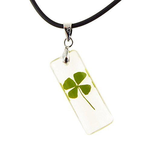 black-cord-real-irish-four-4-leaf-clover-good-luck-shamrock-clear-pendant-necklace-16-18-inches