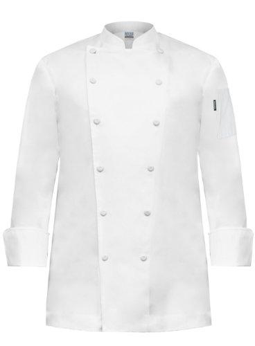 - Newchef Fashion Prince White Egyptian Cotton Men Chef Coat No Breast Pocket 2XL White