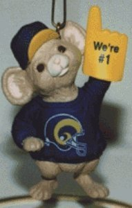 NFL Collection St. Louis Rams 1996 Hallmark Keepsake Ornament QSR6444