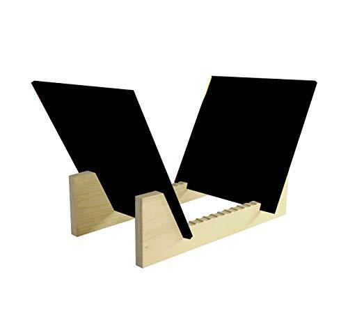 - Fixture Displays Vinyl Record Storage 25-Album Display Holder LP Organizer Tabletop LP Stand Pine Base & Black Acrylic Frame 16983-BLACK-FBA