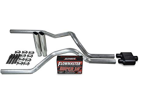 (Truck Exhaust Kits - Shop Line dual exhaust system 2.5 AL pipe Flowmaster Super 10 2.5