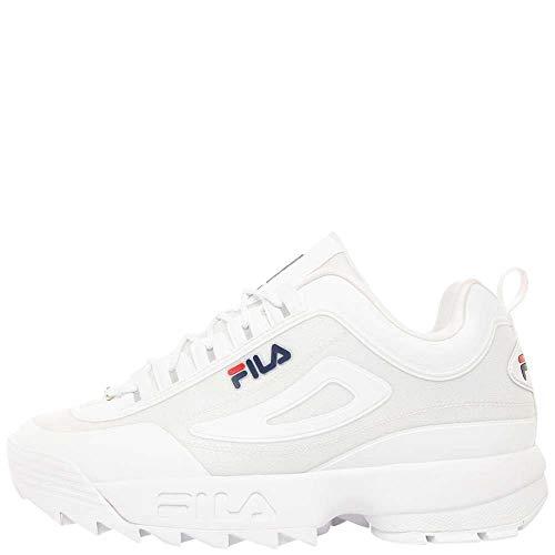 Fila Men's Disruptor II No-Sew Sneaker (11.5, White/Navy/Red) from Fila