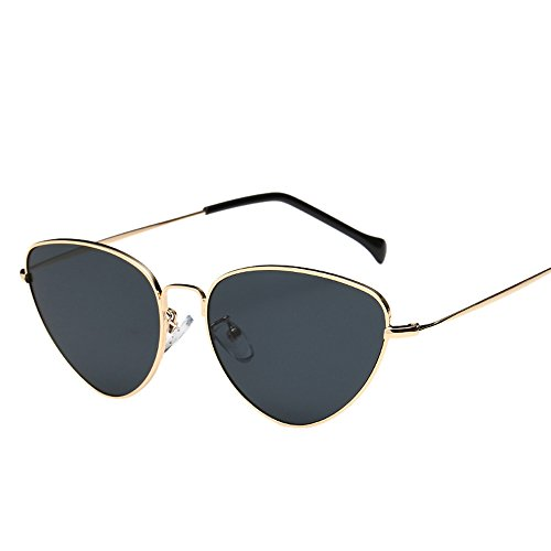 Unisex Fashion Sunglasses Hosamtel Summer Retro Cat Eye Shape Polarized Sunglasses Candy Colored Mirror Lens Travel Sunglasses Eyes Protection for Lady Women Girl Boy Men Gentleman - Rimless Titanium Best Frames Eyeglass
