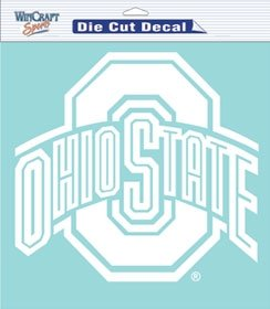 Wincraft Ohio State Buckeyes Decal 8x8 Die Cut White