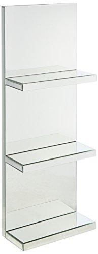 Mirrored Wall Shelf - Howard Elliott Mirroed 99138 Mirrored Shelf with Three (3) Shelves, Metallic
