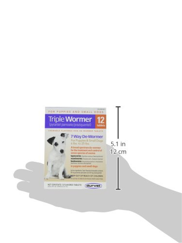 DURVET 12-Pack Triple Wormer Tablets for Puppies and Small Dogs by Durvet (Image #3)