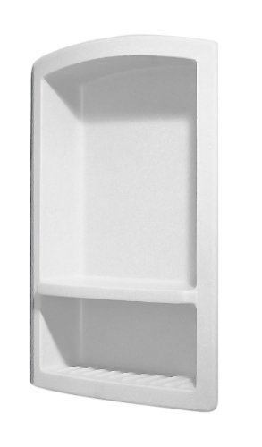 Swanstone RS-2215-010 Recessed Shampoo Shelf, White Finish