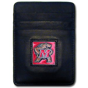 Maryland Paper Clip Holder (Siskiyou NCAA Maryland Terps Leather Money Clip/Cardholder)