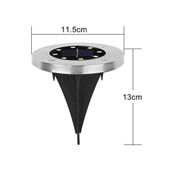 Wilktop Lampade Solari per Giardino Lampada Solare Lampada da Terra Bianco Caldo con Luce a 8 LED LED Esterno IP65 8er Nella Luce Solare Esterna Impostata 4 spesavip