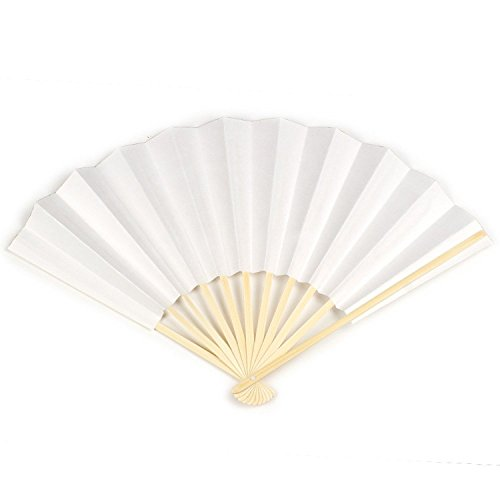 KYOETSU Japanese Kimono White Folding Fan Sensu