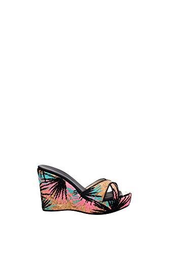 161PANDORACORALPINK Jimmy Choo Cuñas Mujer Corcho Multicolor Multicolor