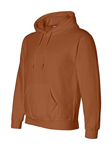 (Gildan G125 DryBlend Adult Hooded Sweatshirt, Texas Orange, Large)