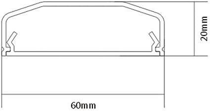 Velleman WBCC07W//75 Gaine de c/âble PVC 60 mm x 750 mm
