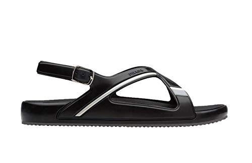 Prada Men's Crisscross Colorblock Rubber Sandal, Black 4X3092 (10 US / 9 ()