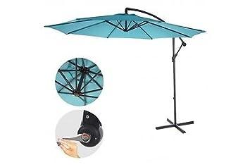 Sonnenschirm Turkis Blau 3m Neigbar Ohne Stander Gunstig Ampelschrim