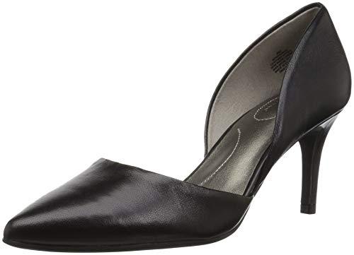 Bandolino Women's GRENOW Pump, Black Leather, 7.5 M US
