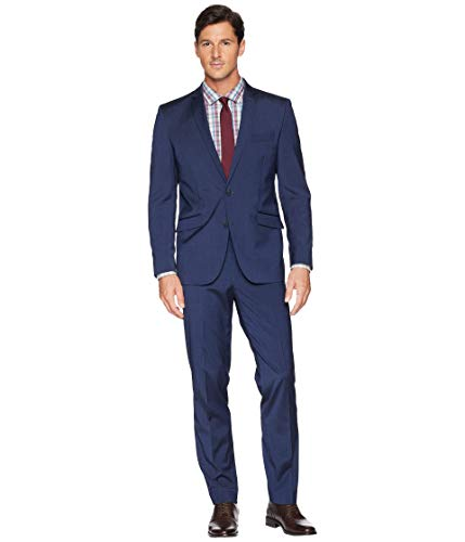 (Kenneth Cole REACTION Men's Skinny Fit Performance Suit w/Stretch Navy 38 Short)