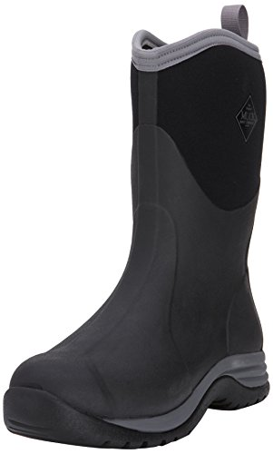 Steel Calf Toe Sneaker (MuckBoots Men's Arctic Commuter-M, Black/Silver, 12 M US)