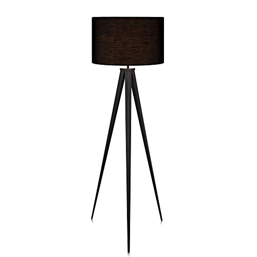 - Versanora VN-L00006 Romanza Tripod Metal Legs LED Floor Lamp, Black