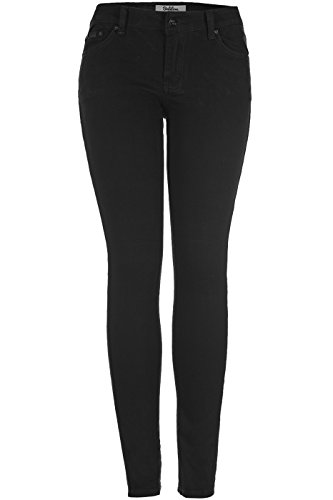 2LUV Women's Stretchy 5 Pocket Skinny Jeans, Black2 , 7 - Old Navy Wide Leg Jeans