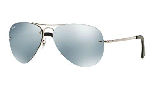 Ray-Ban Highstreet Silver Mirror Sunglasses RB 3449 003/30 59mm +SD Glasses - 3449 Rayban