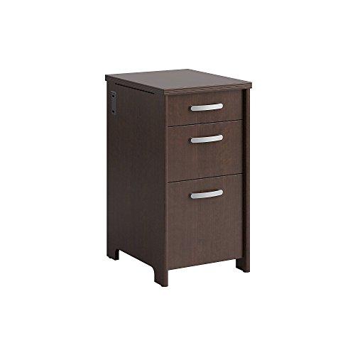 Bush Furniture Envoy 3 Drawer File Cabinet in Mocha Cherry