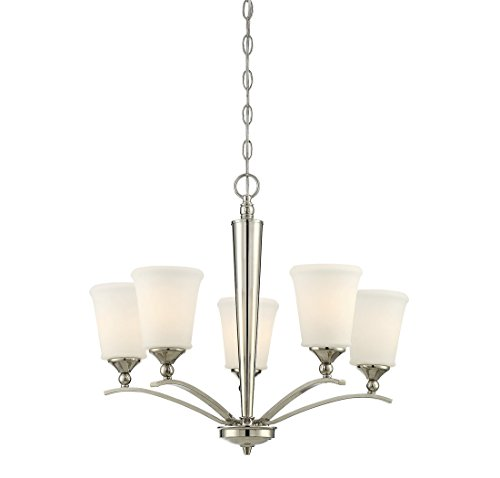 - Trade Winds TW021962PN Classic 5-Light Chandelier in Polished Nickel